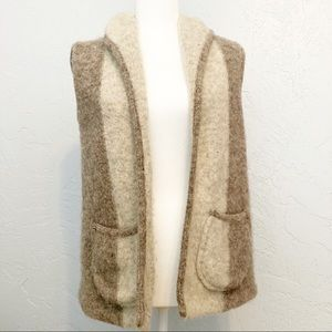 Vintage wool vest made in Denmark small